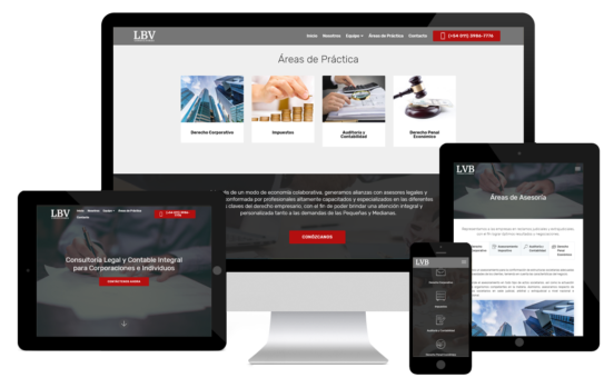 responsive layout LBV Consultores